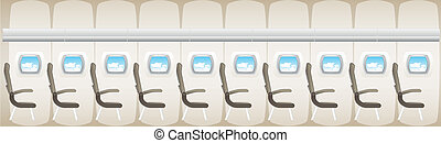 Illustration of plane - jet interior with seats