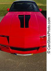 fancy red sports car