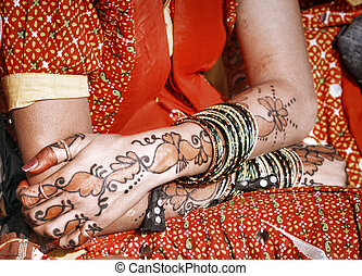 Hands of a young Indian woman. - Hands of a young Indian...