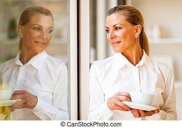 elegant senior businesswoman