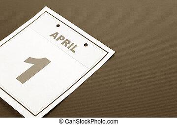 Calendar Fools\\\' Day - Fools\\\' Day, calendar date April...