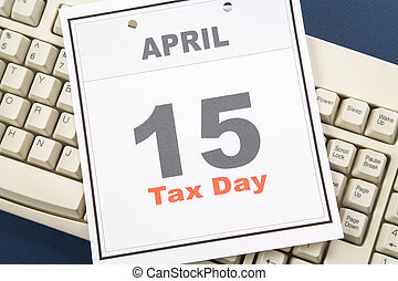 Calendar Tax Day - Tax Day, calendar date April 15 and...