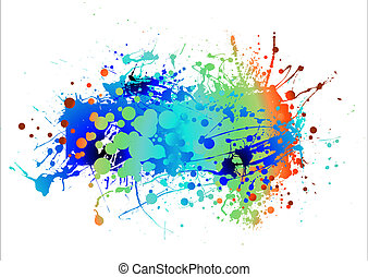 paint chuck subtle - abstract colourful background with room...