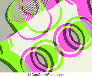 Color, círculos, cubierta