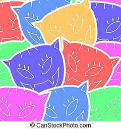 Color art cat - Creative design of color art cat