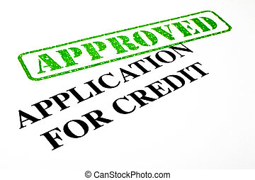 Approved Application For Credit - Close-up of an Approved...
