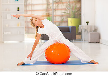 fit middle aged woman workout