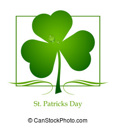 St Patricks Day - Clover leaf element background for happy...