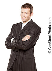 businessman with arms crossed - Portrait of a businessman...