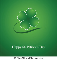 St. Patricks Day - Clover leaf element background for happy...