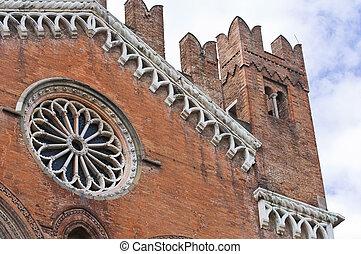 Gothic Palace. Piacenza. Emilia-Romagna. Italy.