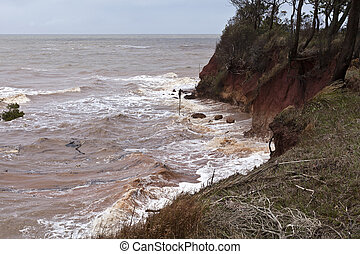 Cliff Erosion - Big waves and strong winds increased the...