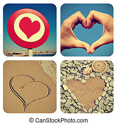 heart-shaped things collage - a collage of pictures of...