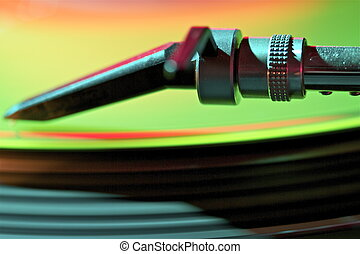 turntable - this is a part or a detail of a turntable
