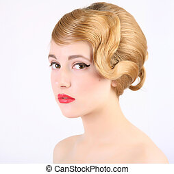 coiffure - girl with old style coiffure
