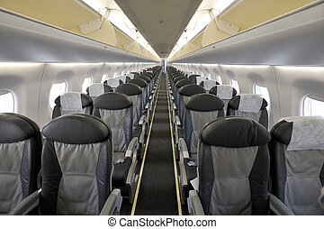 Interior of the passenger airplane - Photo of empty...