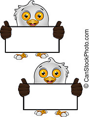 Bald Eagle Character - 2 - A vector illustration on a...