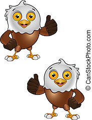 Bald Eagle Character - 3 - A vector illustration on a...