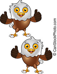 Bald Eagle Character - 5 - A vector illustration on a...