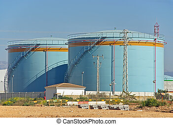 Fuel Tanks - Big tanks uses to store fuel in a power plant