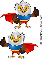 Super Bald Eagle Character - 2 - A vector illustration on a...