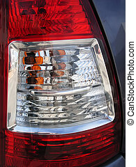 Car Rear Lights - Rear lights in a modern car...