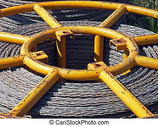 Bobbin Core - Core of a bobbin containing steel cable...