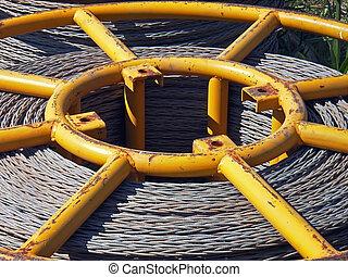 Bobbin Core - Core of a bobbin containing steel cable...