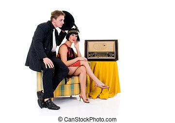 par,  rádio,  retro