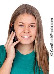 Adolescente, niña, Oratoria, móvil