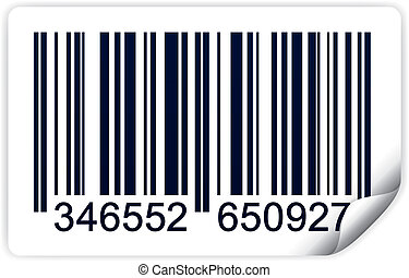 Bar code - Vector illustration of bar code isolated on white...