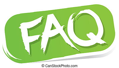 FAQ Button - Vector illustration of FAQ-Button isolated on...