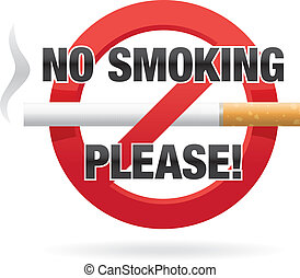 No Smoking Please! - Vector illustration of cigarette inside...