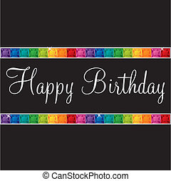 Happy Birthday! - Happy Birthday bling card in vector...
