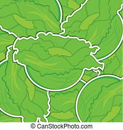 Vegetable - Lettuce background/card in vector format.