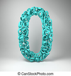 Number Zero - The number zero made out of smaller number...