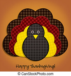 Happy Thanksgiving - Happy Thanksgiving cute material turkey...