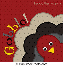 Happy Thanksgiving - Hiding turkey spotty Thanksgiving card...