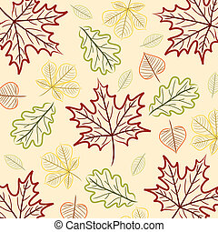 Happy Thanksgiving - Hand drawn leaf ThanksgivingAutumn card...