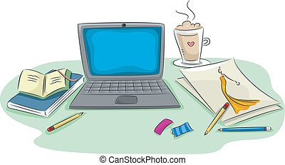 Workstation - Illustration of a Workstation Featuring a...