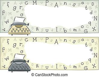 Typewriter Header - Header Illustration Featuring an Old...