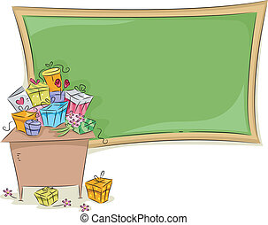 Teacher's Day Background - Background Illustration Featuring...
