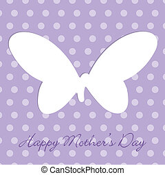 Happy Mothers Day - Mauve Mothers Day polka dot butterfly...