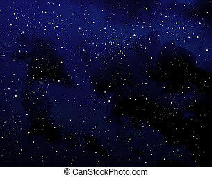Milky way - Starry sky at night with cloud effect