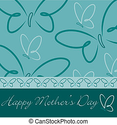 Happy Mothers Day - Happy Mothers Day butterfly card in...