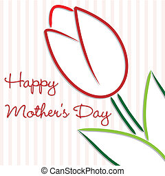 Happy Mothers Day tulip card in vector format