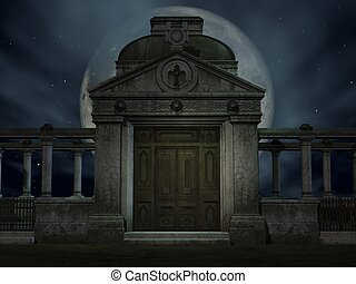 Halloween Tomb - 3D Render of an Halloween Tomb