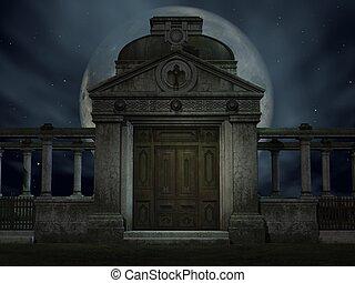 Halloween Tomb - 3D Render of an Halloween Tomb