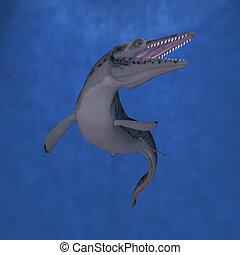 Mosasaur - 3D Render of an Mosasaur-3D Lepidosaurs