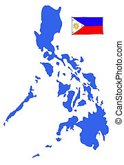 hand drawn   of flag of Philippines